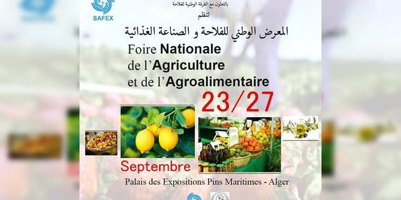 Algeria:Safex, Agriculture and Agri-Food Industries Fair from September 23rd